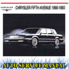 Thumbnail CHRYSLER FIFTH AVENUE 1990-1993 WORKSHOP SERVICE MANUAL