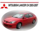 Thumbnail MITSUBISHI LANCER CH 2003-2007 WORKSHOP SERVICE MANUAL