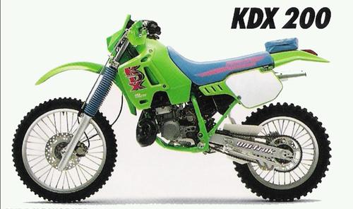 Kawasaki Kdx200 Kdx 200 1989-1994 Workshop Service Manual