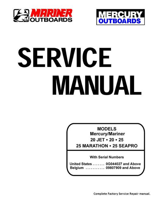 mercury service manual 20 jet 20 25 marathon seapro 25 download rh tradebit com mercury bigfoot 25 hp manual mercury marine 25 hp manual