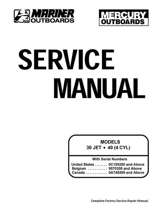 Free Mercury / Mariner Service Manual 30 40 2 Sroke Download thumbnail