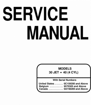 Mercury mariner outboard 30 40 hp 4-stroke service repair manual do.