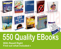 Thumbnail 550 QUALITY EBOOKS FOR ONLY