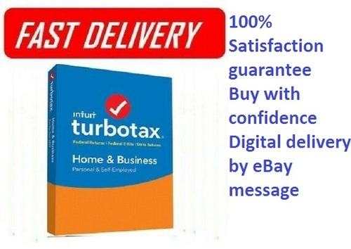 Pay for TurboTax Home & Business  State 2018 Fed Efile PC/MAC