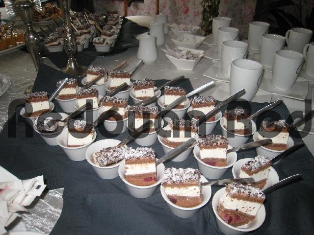 Pay for Buffet presentation of delicious chocolate Javanais dessert