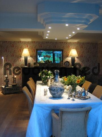 Pay for Interior design with a mystical shade of blue from outside r