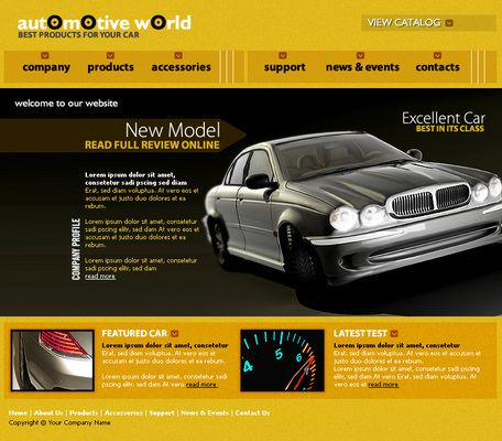 Pay for Auto Website Template