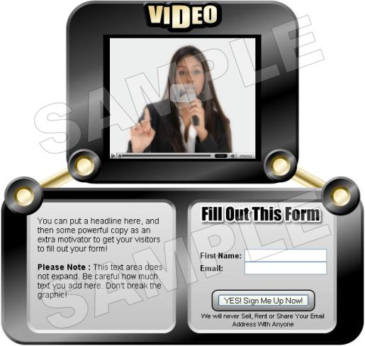 Pay for Video Squeeze Pages with MRR