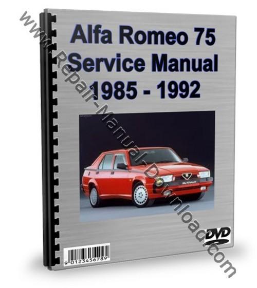 alfa romeo 75 service repair manual workshop download download ma rh tradebit com alfa 75 repair manual pdf forum alfa 75 ts workshop manual
