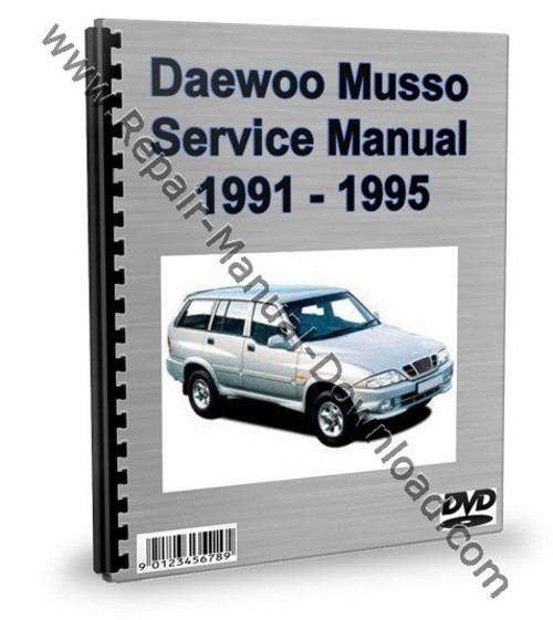 daewoo musso service repair manual workshop download. Black Bedroom Furniture Sets. Home Design Ideas