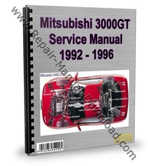 mitsubishi 3000gt gto 1992 1996 service repair manual. Black Bedroom Furniture Sets. Home Design Ideas