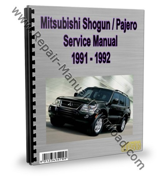 mitsubishi montero pajero 1991 1992 service repair manual. Black Bedroom Furniture Sets. Home Design Ideas