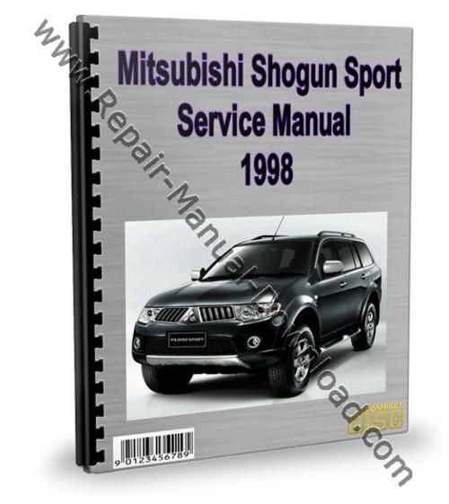 mitsubishi montero pajero sport 1998 service repair manual downlo rh tradebit com 1998 Mitsubishi Montero Sport Starter 1998 mitsubishi montero sport service manual