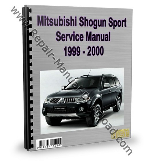 mitsubishi montero pajero sport 1999 2000 repair manual download rh tradebit com 2000 Mitsubishi Montero Transmission Line Heater Valve Location 2001 Montero Sport