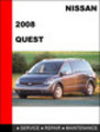 Thumbnail Nissan Quest 2008 Factory  Workshop Service Repair Manual