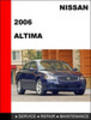 Thumbnail Nissan Altima 2006 Factory Workshop Service Repair Manual
