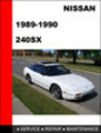 Thumbnail Nissan 240SX 1989-1990 Factory Shop Service Repair Manual