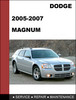 Thumbnail Dodge Magnum 2005 2006 2007 2008 Factory service repair manual