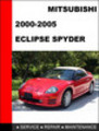 Thumbnail Mitsubishi Eclipse Spyder 2000-2005 Service Repair Manual