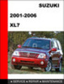 Thumbnail Suzuki XL7 2001-2006 Factory Service Workshop Repair Manual