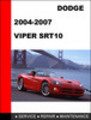 Thumbnail Dodge Viper SRT-10 2004-2007 Workshop Service Repair Manual