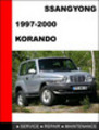 Thumbnail SsangYong Korando 1997-2000 Service Repair Manual
