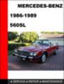 Thumbnail Mercedes-Benz 560SL 1986-1989 Factory Service Repair Manual