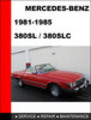 Thumbnail Mercedes-Benz 380SL - 380SLC 1981-1985 Service Repair Manual