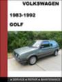 Thumbnail Volkswagen Golf MK2 1983-1992 Service Repair Manual