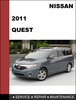 Thumbnail Nissan Quest 2011 Factory Workshop Service Repair Manual