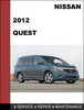 Thumbnail Nissan Quest 2012 Factory Workshop Service Repair Manual