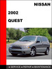 Thumbnail Nissan Quest 2002 Factory OEM Workshop Service Repair Manual