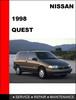 Thumbnail Nissan Quest 1998 Factory OEM Workshop Service Repair Manual