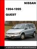 Thumbnail Nissan Quest 1994-1995 OEM Workshop Service Repair Manual