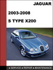 Thumbnail Jaguar S Type x200 2003-2008 Shop Service Repair Manual
