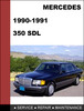 Thumbnail Mercedes-Benz 350SDL w126 1990-1991 Factory WORKSHOP Service Repair Manual