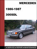 Thumbnail Mercedes-Benz 300SDL w126 1986-1987 Factory WORKSHOP Service manual