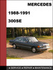 Thumbnail Mercedes-Benz 300SE w126 1988-1991 Factory WORKSHOP Service manual
