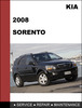 Thumbnail KIA Sorento 2008 Factory Service Repair  Manual & Electronic Troubleshooting manual