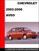 Thumbnail Aveo 2002 to 2006 Factory workshop Service Repair Manual