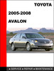 Thumbnail Avalon 2005 to 2010 Factory workshop Service Repair Manual