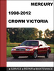 Thumbnail Ford Crown Victoria 1998 to 2012 Factory workshop Service Repair manual