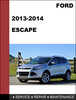 Thumbnail Ford Escape 2012 to 2014 Factory workshop Service Repair Manual