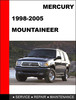 Thumbnail Mercury Mountaineer 1997 to 2001 Factory workshop Service Repair manual