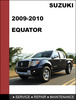 Thumbnail Suzuki Equator 2009 & 2010 Factory workshop Service Repair Manual