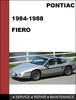Thumbnail Fiero 1984 to 1988 Factory Service Workshop Repair Manual