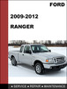 Thumbnail Ford Ranger 2009 to 2012 Factory workshop Service Repair Manual