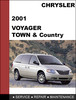 Thumbnail Chrysler Voyager - Chrysler Town & Country 2001 Factory workshop Service Repair Manual