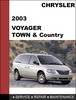 Thumbnail Chrysler Voyager - Chrysler Town & Country 2003 Factory workshop Service Manual