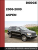 Thumbnail Chrysler Aspen 2007-2009 Factory workshop Service Repair Manual